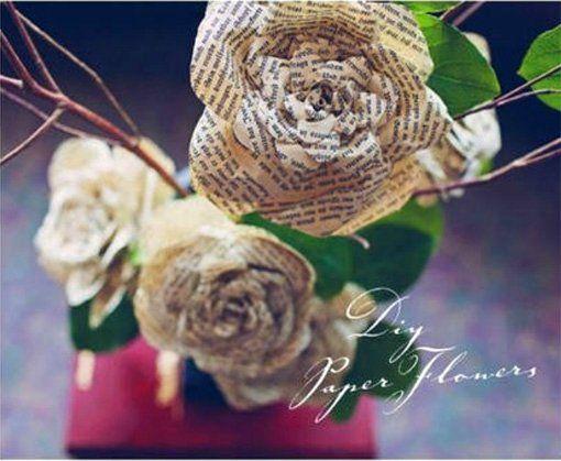 Розы из книжных страниц. Мастер-класс