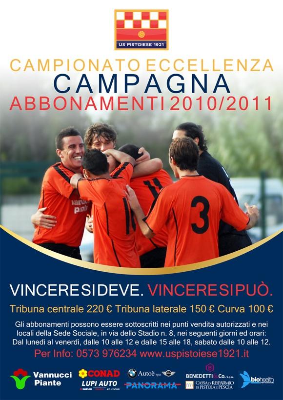 Campagna abbonamenti 2010/2011 Us Pistoiese 1921