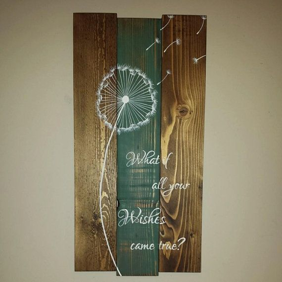 Rustic reclaimed wood sign  What if your wishes von TinHatDesigns