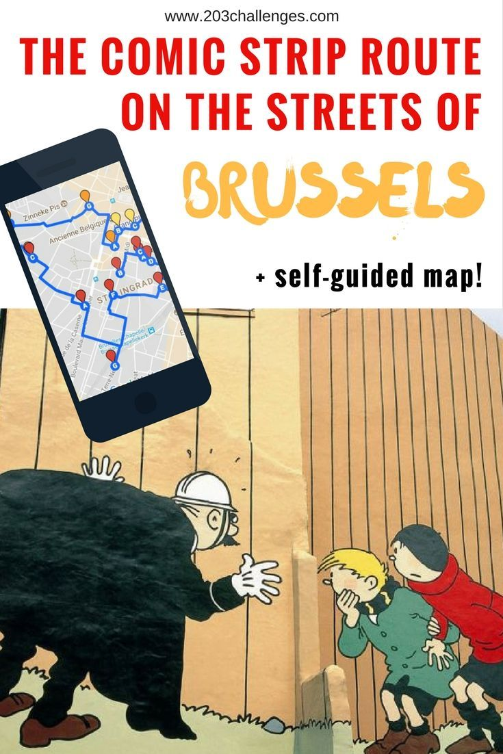 The Comic Strip Route On The Streets Of Brussels Self Guided