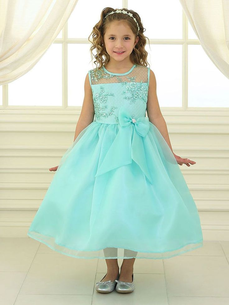 Organza Flower Girl Dress with Embroidered Lace                                                                                                                                                      More