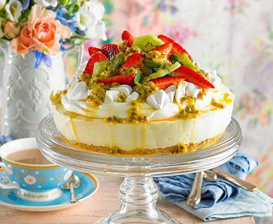 Iconic Australian recipes - Lemon pavlova cheesecake