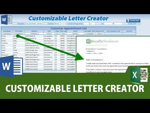 55) How To Create Custom Word Documents From Excel WITHOUT