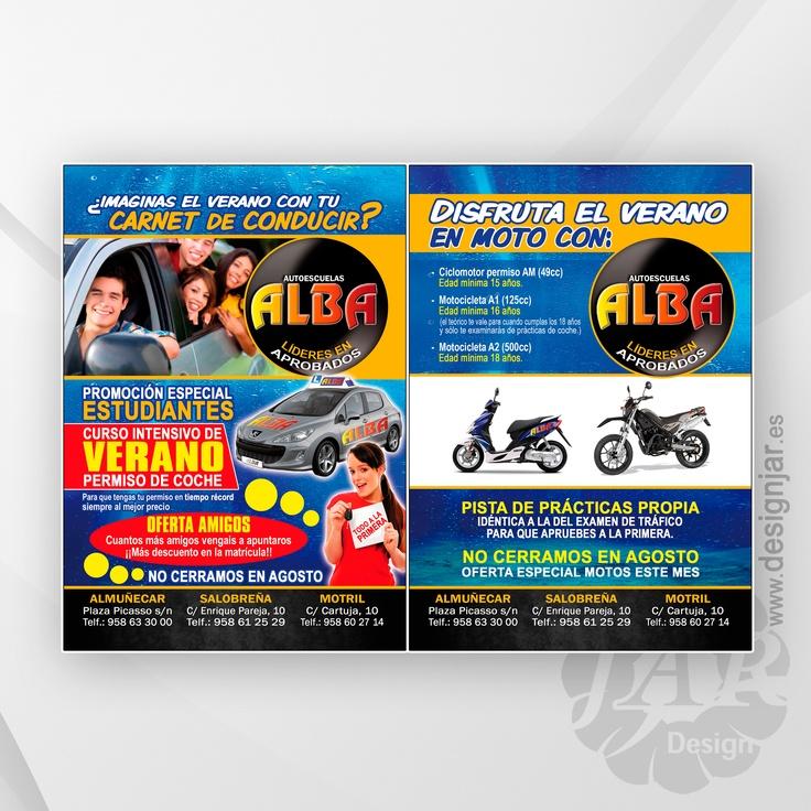 flyers autoescuela alba