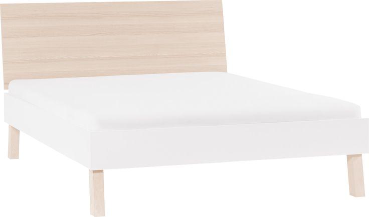 Łóżko 2-os. ze szczytem płaskim (Akacja/biały) - Spot Young - Typy mebli - Wnętrza VOX