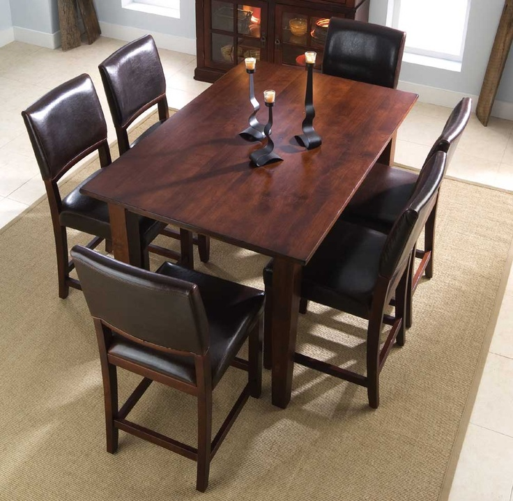 stonewater tall dining table with six chairs by kincaid furniture
