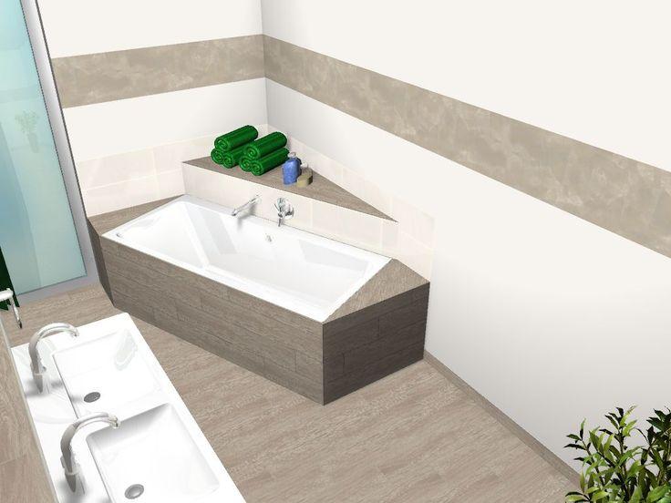 Good Badezimmerplanung ohne Dachschr gen Visualisierung