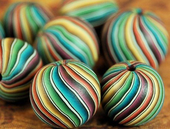 Beads by IKANDI CLAY | Polymer Clay Planet