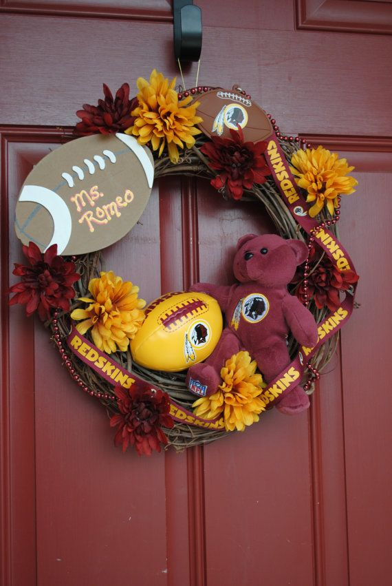 NFL  FOOTBALL  any team  Game Day  Redskins by YourDecoratedDoor, $47.00 COWBOYS????