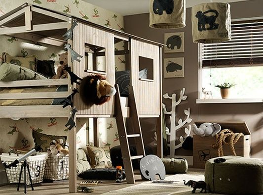 1000+ images about Kinderkamers on Pinterest   Industrial, Industrial storage and Jungles