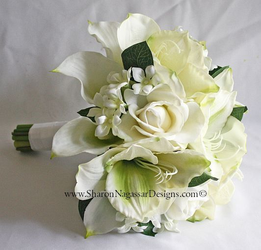 1000 images about white off white ivory wedding flowers for Bouquet amaryllis