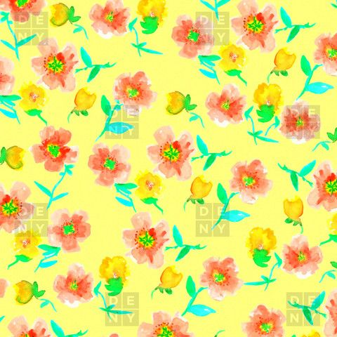 Joy Laforme Peonies And Tulips In Yellow Duvet Cover