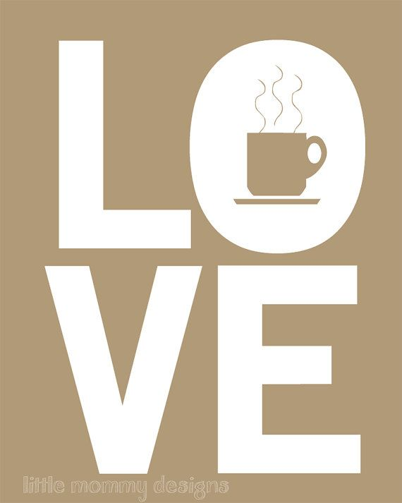 I LOVE COFFEE - This belongs on office wall... Right above our three coffee makers and wall of Melitta coffee.
