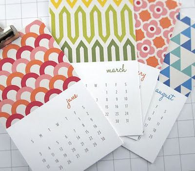 inspired by modern fabric prints + design, this calendar is full of patterns, geometric shapes and color. small cards are perfect for bulletin boards, desk, refrigerator, or for wall decor.