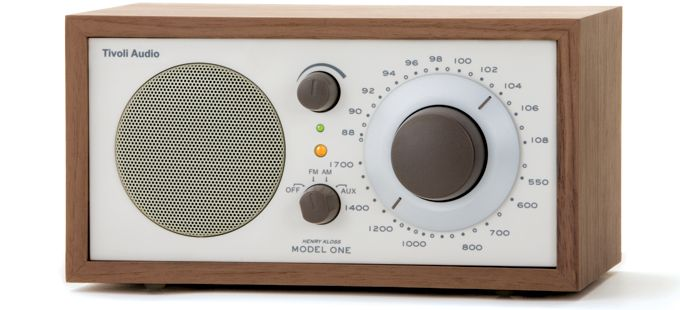 """The Tivoli Audio® Model One® AM/FM table radio has been described as """"the best sounding table radio ever made,""""  Classic Old-School Design too - very cool"""