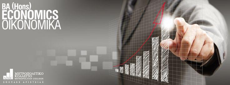 BA (Hons) Economics (Οικονομικά)   Το αντικείμενο του προγράμματος εκτείνεται σε όλο το φάσμα της οικονομικής επιστήμης και των εφαρμογών της, όπως η μικροοικονομική και μακροοικονομική ανάλυση, η οικονομική των επιχειρήσεων, η χρηματοοικονομική, η νομισματική πολιτική, η διεθνής οικονομική και η στρατηγική επιχειρήσεων. http://ow.ly/ttbKQ