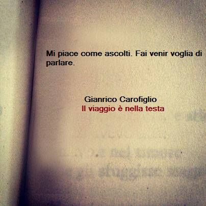 """ Mi piace come ascolti. Fai venir voglia di parlare."" and I like every time you talk ,#CM"