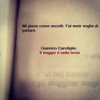 """"""" Mi piace come ascolti. Fai venir voglia di parlare."""" and I like every time you talk ,#CM"""