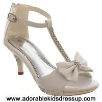 White high heel shoes for kids