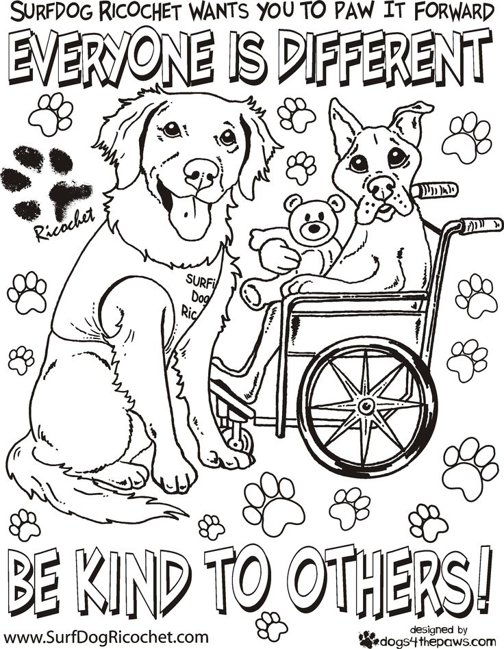 special needs coloring pages - photo#24