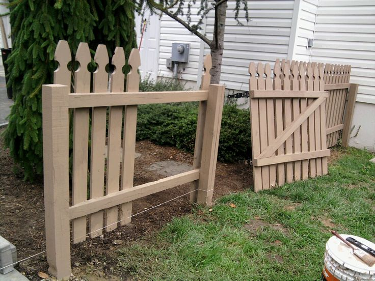 Building a Removable Wood Fence Section and Gate - All ...