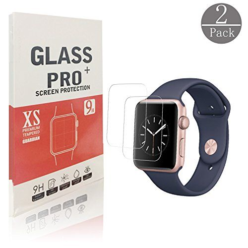 Qittary - Apple Watch Screen Protector (42mm Series 3/2/1 Compatible) Full Coverage [2 Pack] Apple Watch Screen Protector 42mm
