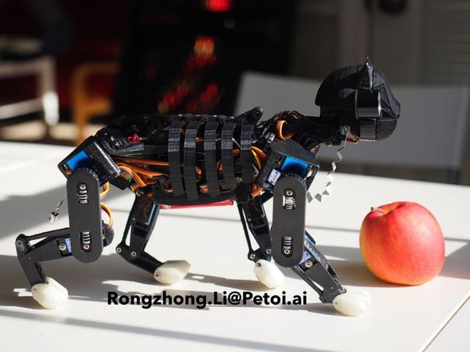 OpenCat Project Pounces on 3D Printing and Robotics  ||  As humans, we are genetically inclined to enjoy the company of our own kind; however, this often includes welcoming cats, dogs, and other domesticated animals i https://www.3dprint.com/206452/3d-printed-opencat-robot/?utm_campaign=crowdfire&utm_content=crowdfire&utm_medium=social&utm_source=pinterest