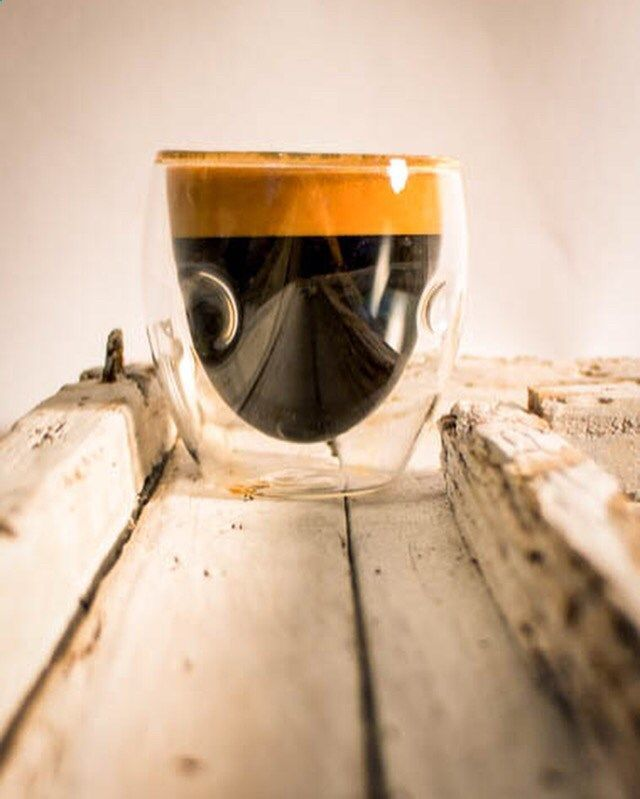 An espresso made with fresh roasted coffee from Calusa Coffee Roasters #coffeelovers