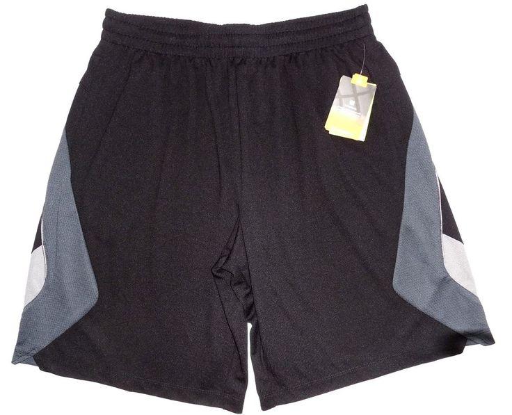 Tek Gear Men's Basketball Shorts XL Black Athletic Gym Workout NEW #TekGear #Shorts