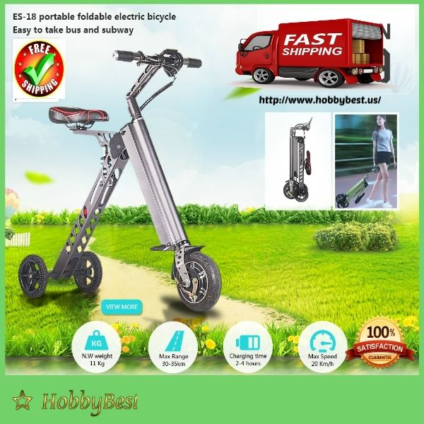 8 inch Portable Folding Electric Bike 20 km/h 250W With 25 Miles Range?  IT'S FUN!  With this 8 inch Portable Folding Electric Bike is ensured to put a grin all over - each ride!  SAVE MONEY  Petrol prices may soar, but this Portable Folding El...