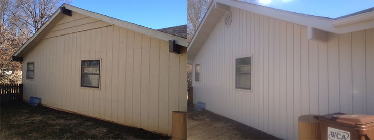 10 best before and after seamless steel siding images on for Vertical steel siding