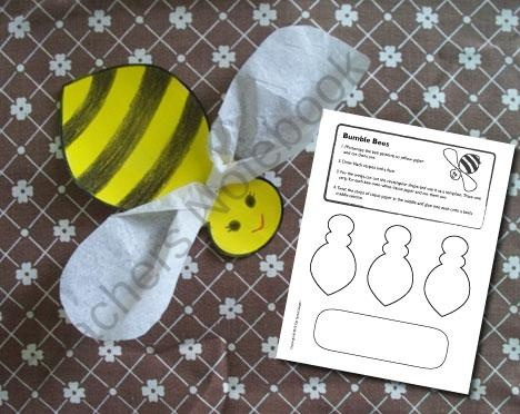 Bumble Bees Craft product from CatTenneDesigns on TeachersNotebook.com