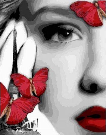 Девушка с бабочками в 2020 г | Картины, Рисунки, Раскраска ...