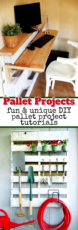 Pallet Projects - fun & unique DIY pallet project tutorials