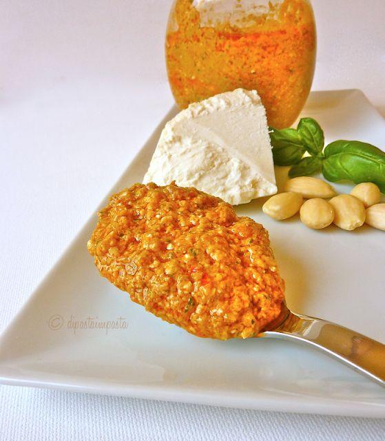 Pesto rosso siciliano alla trapanese (Agghiata trapanisa) 250 g di pomodorini a…
