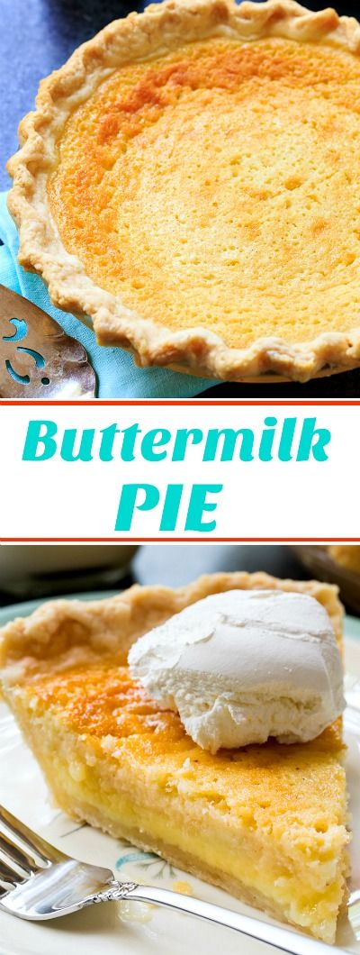 Old-Fashioned Buttermilk Pie- super sweet with a little tang! #pie #dessert #holidayrecipes #southernrecipes