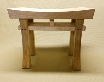 Asian Style Stool size medium Made to Order Maple by BenchCrafts
