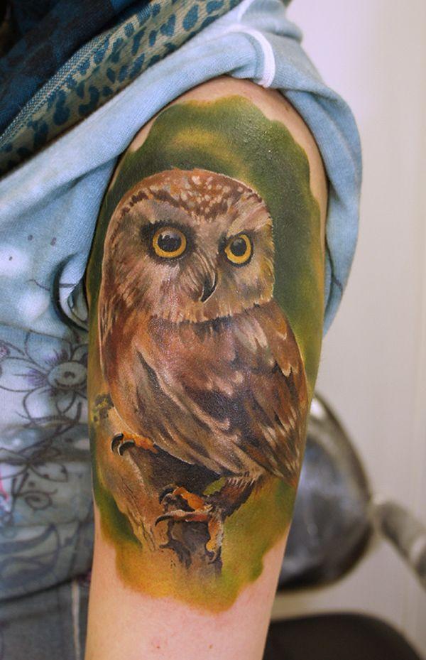 13 Small Owl tattoo