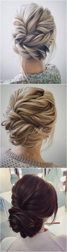 beautiful twisted updo wedding hairstyle ideas