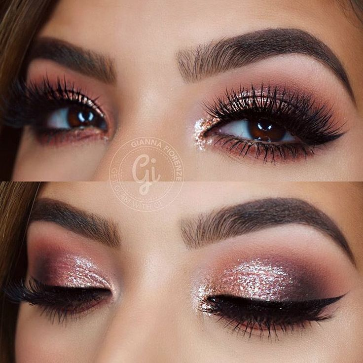 """""""Holiday Glam✨ BROWS @anastasiabeverlyhills Brow Wiz in Soft Brown & Dipbrow Pomade in Chocolate with Clear Brow Gel to set. EYES @makeupgeekcosmetics…"""""""