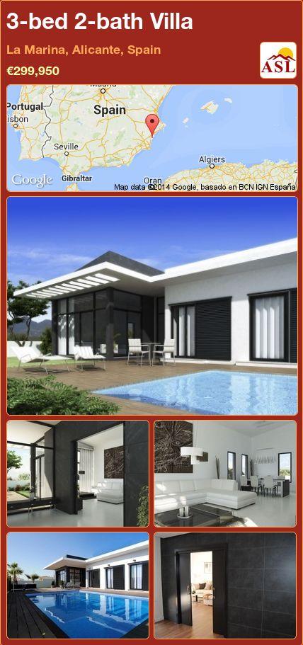3-bed 2-bath Villa in La Marina, Alicante, Spain ►€299,950 #PropertyForSaleInSpain