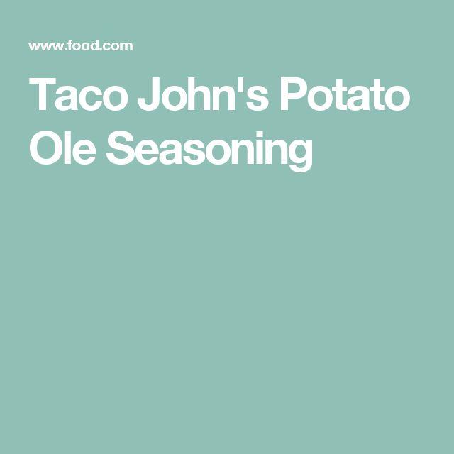 Taco John's Potato Ole Seasoning