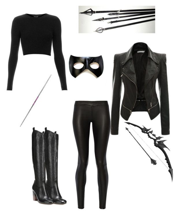"""black canary"" by sophia242t on Polyvore featuring Topshop, The Row, Via Spiga, women's clothing, women, female, woman, misses and juniors"