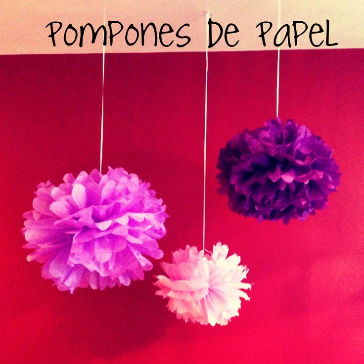 Biufirul: Pompones de Papel. flores de papel china