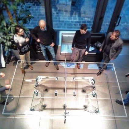 After 3hours meeting, it's time to relax. Simply add the net and enjoy! @ Impatia headquarters #milano  #design #interiors #luxury #office #inspiration #interiordesign #gametable #pingpong #crystal #table #madeinitaly #lifestyle