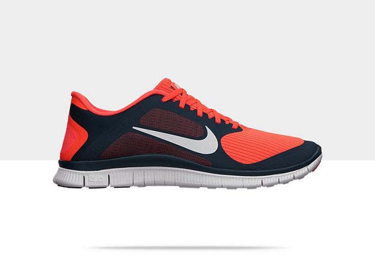 Nike Free 4.0 Mens Running Shoe / Midnight Turquoise/White-Total Crimson
