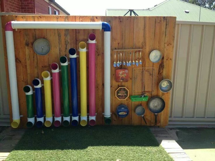 Could do Pom Pom or ping pong xylophone shutes- music wall -found on Omaha Montessori school board