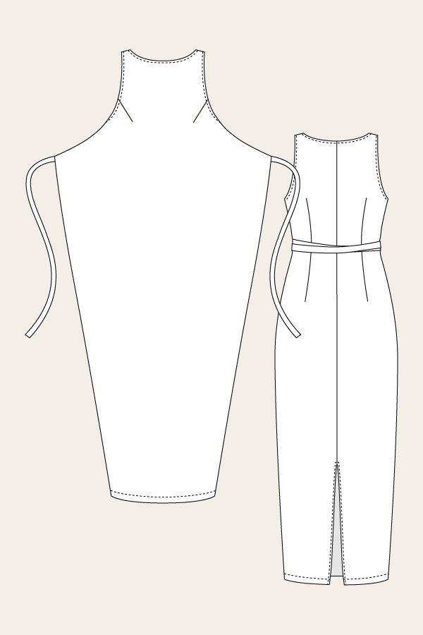 Kielo Wrap Dress - Line Drawing