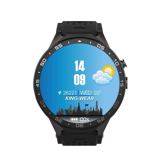 Venta caliente kingwear kw88 smart watch android bluetooth smartwatch teléfono de 1.39 pulgadas de la ayuda 3g wifi del ritmo cardíaco para el teléfono móvil