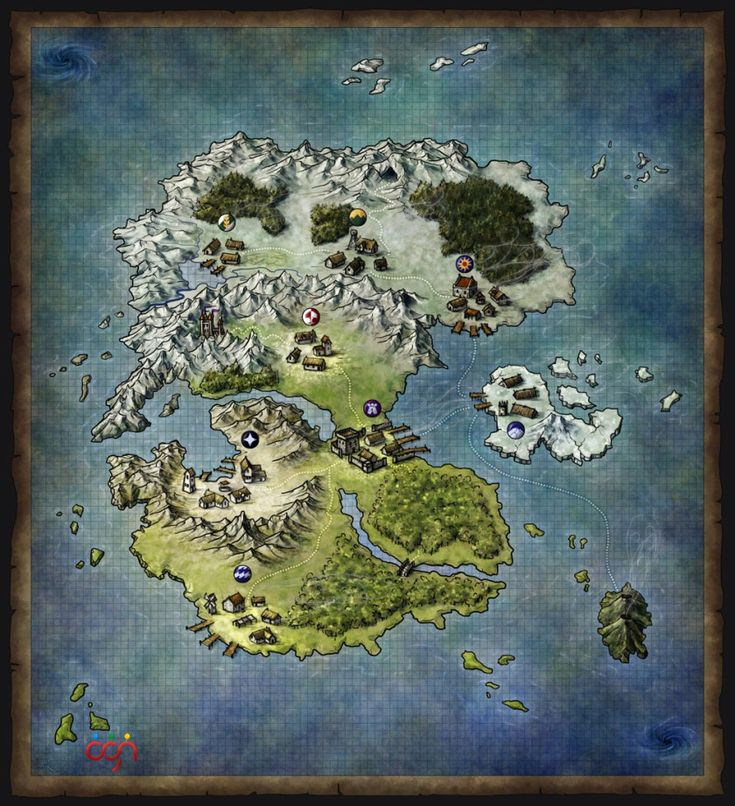 Dark Warriors fantasy world map
